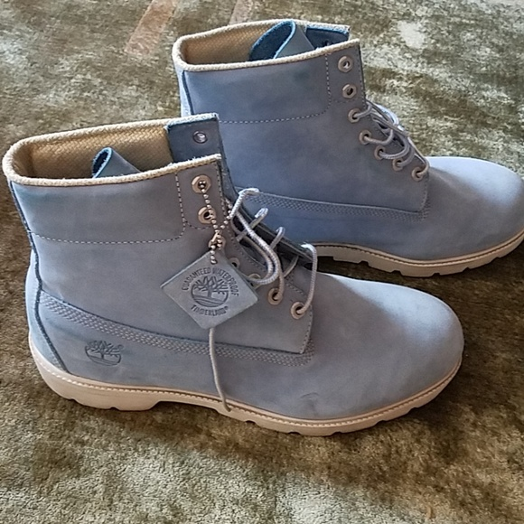 Blue Timberland Mens Suede Boots